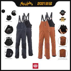 686 2021新品预售 GORE-TEX Stretch Dispatch Bib 男款 背带裤