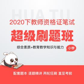 [幼儿/小学/中学-综合素质+教育教学知识与能力] 2020下教师资格证笔试超级刷题班