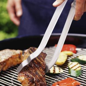 【食物夹】304不锈钢烧烤夹烤肉夹bbq烧烤工具加长面包夹意粉食物夹牛排夹子