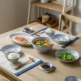 摩登主妇日式餐具和风陶瓷家用米饭碗面碗汤碗盘子餐盘网红套装