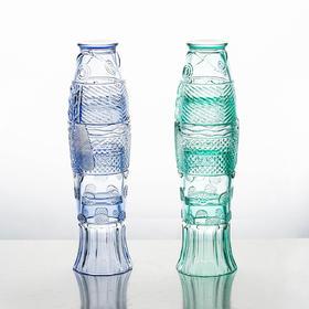 摩登主妇创意锦鲤鱼形水杯4只套装家用玻璃杯客厅饮料杯茶杯家用
