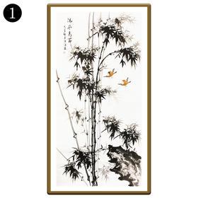 中国工笔画研究会会员陈浩墨竹图/翠竹图 1号