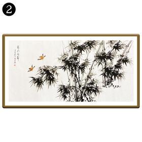 中国工笔画研究会会员陈浩墨竹图/翠竹图 2号