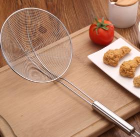 【漏勺】家用不锈钢厨具线漏 厨房油格过滤勺网漏 圆管柄两叉火锅漏勺