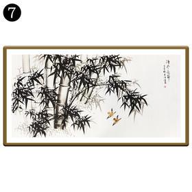 中国工笔画研究会会员陈浩墨竹图/翠竹图 7号