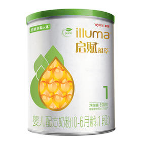 【蕴萃】惠氏启赋 有机蕴萃 婴儿配方奶粉1段(0-6个月) 350g/罐