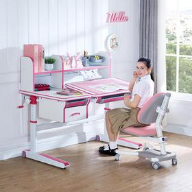优沃儿童学习桌家用小学生写字桌女孩书桌可升降桌椅套装男孩书桌