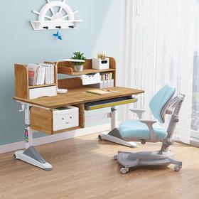 优沃实木儿童学习桌写字桌小学生书桌可升降课桌椅套装家用男女孩