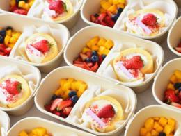 网红蛋糕卷水果盒子