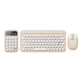 【为都市OL打造】Lofree洛斐奶茶系列|键盘鼠标计算器|多系统兼容|清脆青轴