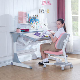 优沃儿童书桌 可升降小学生学习桌椅组合套装简约书桌 家用