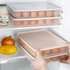 【保鲜盒】*厨房24格鸡蛋盒冰箱保鲜盒便携野餐鸡蛋收纳盒塑料鸡蛋盒蛋托蛋格