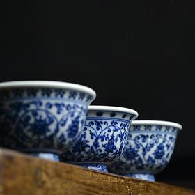 云亼堂 手绘永乐青花压手杯品茗杯