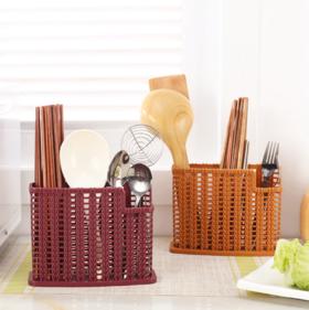 【筷子筒】多功能筷子笼沥水筷子架厨房塑料创意三格筷笼收纳筷子筒 | 基础商品
