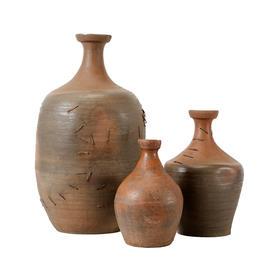 陶罐红陶茶油罐花器摆件Pottery Vase