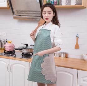 【围裙】家用可擦手围裙 可调节防水防油罩衣厨房炒菜做饭防油工作围兜