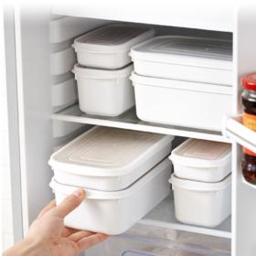 【保鲜盒】冰箱保鲜盒专用密封盒厨房透明带盖塑料便当盒收纳盒套装
