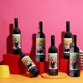 【6支装】孤独汪西拉子赤霞珠澳洲进口干红葡萄酒2018年