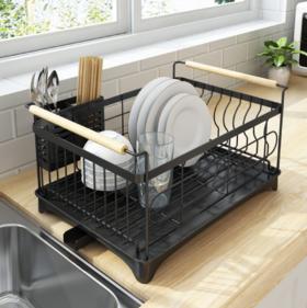 【碗碟架】不锈钢烤漆水槽沥水架厨房置物架盘子碗筷子收纳碗碟架