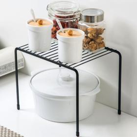 【碗碟架】单层铁艺落地置物架调料碗碟架厨房桌面橱柜下水槽沥水架收纳架
