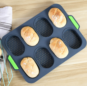 【蛋糕模具】硅胶蛋糕模具8连法棍面包烘焙烤盘模具DIY烘焙工具蛋糕模面包模