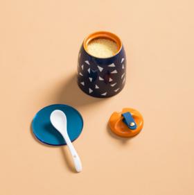 【调味罐】陶瓷调味罐厨房调味盒餐厅佐料罐家用盐罐糖罐调料罐陶瓷辣椒油罐