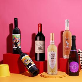 【6支混合】百元美酒6支尝鲜装葡萄酒
