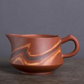 山水系列紫砂绞泥茶具样品(公道杯)
