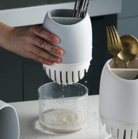 【筷子筒】筷子笼多功能沥水 家用圆形筷子筒硅藻泥沥水筷子架 厨房收纳