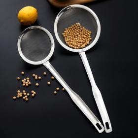 【漏勺】304不锈钢漏勺滤网筛家用厨房捞面榨汁机豆浆过滤网隔油神器捞勺