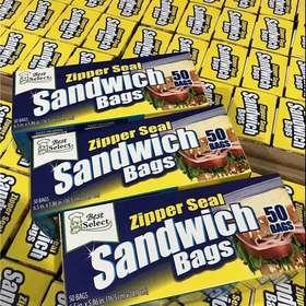 Best Select食品级环保便携保鲜袋! 保鲜袋,水果便携袋 50个/盒 3盒装