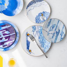 陶溪川 十万图盘国潮餐具一人食创意碗碟