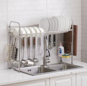 【厨房配件】厨房不锈钢水槽架水槽置物架餐具收纳架碗碟架水池沥水架
