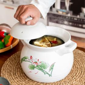 【汤锅】砂锅炖锅陶瓷石锅耐高温煲汤明火直烧家用燃气瓦罐煮粥汤沙锅