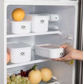 【保鲜盒】居家方正便携保鲜盒 厨房可加热食材塑料保鲜盒 多用便当饭盒
