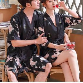 【仙鹤睡衣情侣款】复古元素 冰丝睡衣 高雅大气 版型宽松不挑身材