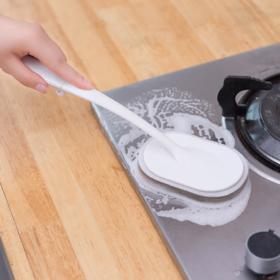 【厨房用品】不粘锅刷不伤锅厨房神器洗碗擦工具长柄百洁布海绵强力清洁刷家用