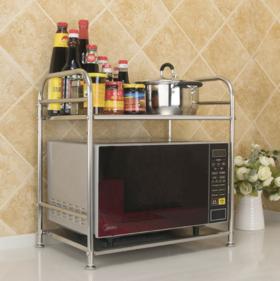 【厨房置物架】不锈钢厨房微波炉置物架 烤箱电饭煲收纳厨具置物架