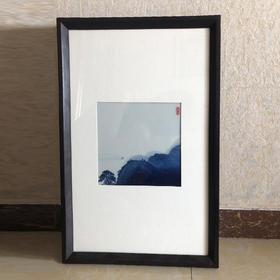 青花山水瓷板画