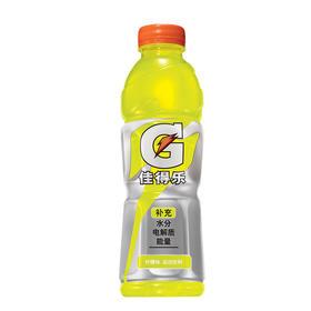 百事可乐 佳得乐水果味运动饮料600ml瓶果味饮料补充能量 夏季饮品 柠檬味-961311
