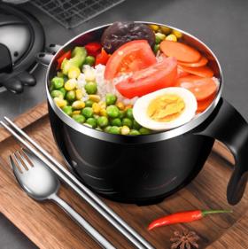 【餐具】304不锈钢双层泡面碗带盖学生套装可爱餐碗宿舍饭盒神器 方便面碗