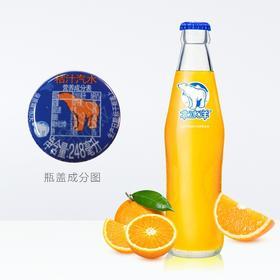 北冰洋 桔汁汽水248ml瓶 老北京玻璃瓶汽水碳酸饮料果汁饮品-961293