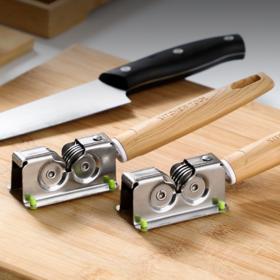 【磨刀器】新款家用快速磨刀器厨房耐磨不锈钢手动小型磨刀石磨菜刀剪刀神器