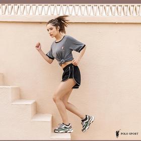 【夏季爆款 运动+居家实用服饰 透气速干】POLO SPORT 速干运动套装(T恤+短裤) 高弹设计 速干透气  四面弹力 四色可选