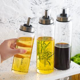【油壶】玻璃油壶醋瓶耐热调味料酱油瓶醋壶家用大号防漏装香油罐装油瓶