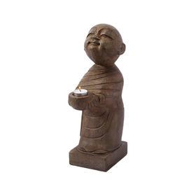 青石站佛软装饰品石头摆件家居软装饰品禅意佛摆件佛像