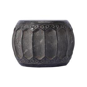 青石雕刻仿古石鼓石头摆件软装饰品柱顶石柱墩石墩石鼓茶杯托底座