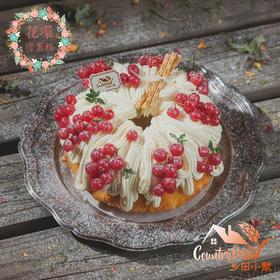 鲜橙花环裸蛋糕