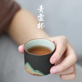 【茶杯】*手绘禅意茶杯 手工复古中式粗陶主人杯景德镇陶瓷功夫茶具品茗杯
