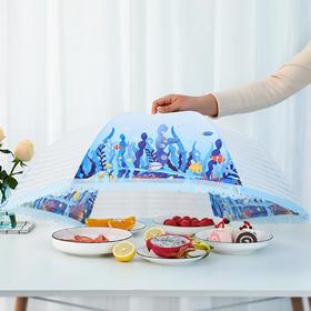 家用大号餐桌防蝇盖菜伞圆形饭菜罩子折叠食物防尘罩